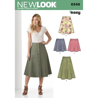 Sewing Pattern Easy New Look Womens Easy Skirt Sewing Pattern 6346 Hobcraft