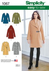 Sewing Pattern Easy Simplicity 1067 Misses Easy To Sew Jacket Or Coat