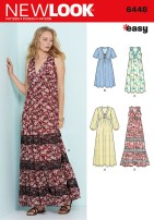 Sewing Pattern Easy Simplicity New Look Sewing Pattern Easy V Neck Dresses 6448