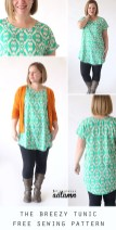 Sewing Pattern Easy The Breezy Tee Tunic Free Sewing Pattern Its Always Autumn