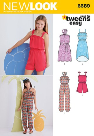 Sewing Pattern For Girl 6389 New Look Pattern Girls Easy Jumpsuit Romper And Dresses
