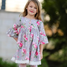 Sewing Pattern For Girl Clementine Dress And Top For Girls 12 Months To 910 Years Tie
