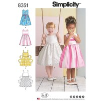 Sewing Pattern For Girl Girls Dress Simplicity Sewing Pattern 8351 Sew Essential