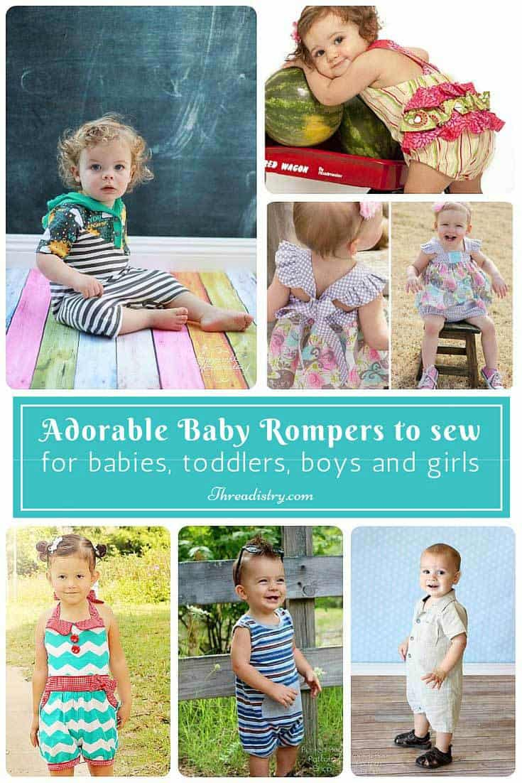 Sewing Patterns For Babies Gorgeous Ba Romper Sewing Patterns For Boys And Girls