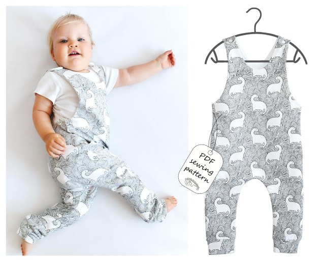 Sewing Patterns For Babies Romper Sewing Pattern Pdf Ba Romper Pattern Pdf Kids Romper