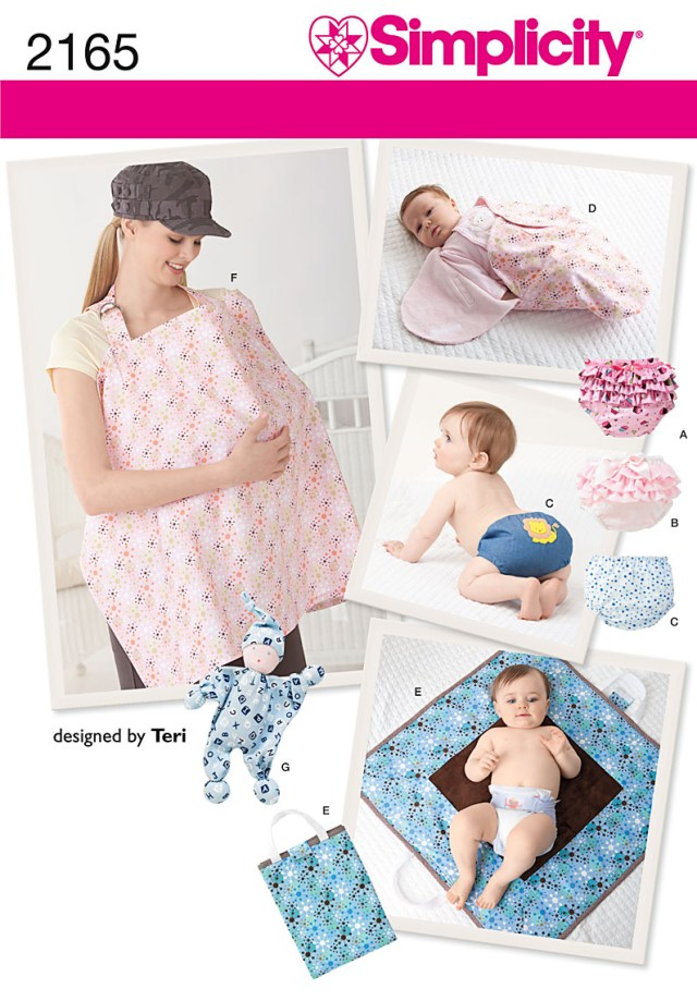 Sewing Patterns For Babies Simplicity 2165 Babies Diaper Covers Nursing Shield Changing Pad
