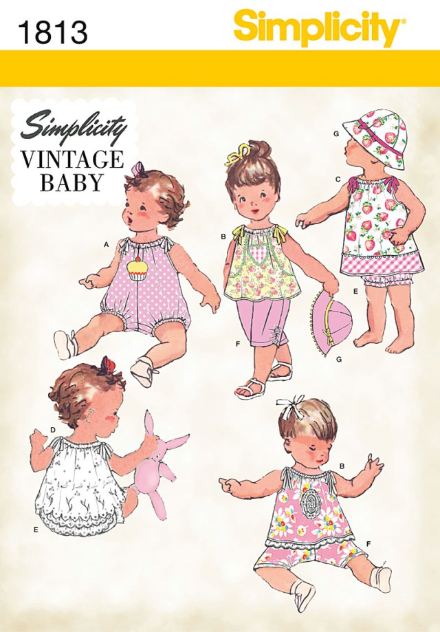 Sewing Patterns For Babies Simplicity Vintage Ba Babies Sewing Pattern 1813 Dress Top