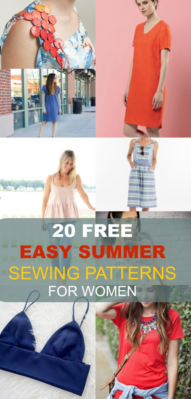 Sewing Patterns For Beginners Free Sewing Patterns 20 Easy Summer Patterns For Women On The