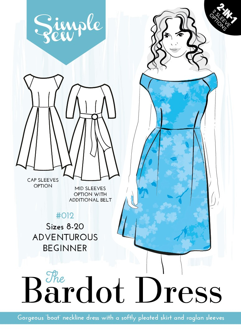 Sewing Patterns For Beginners The Bardot Dress The Foldline