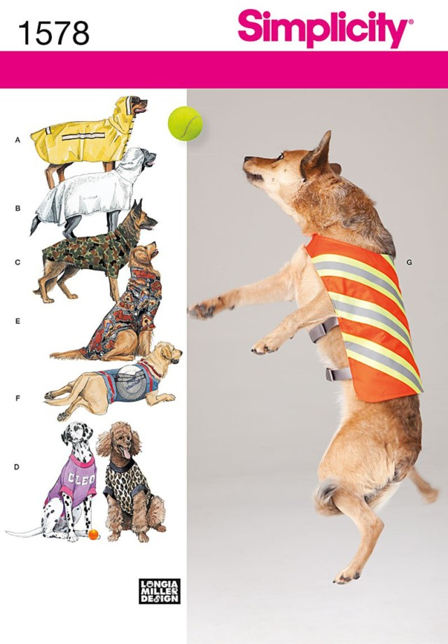Sewing Patterns For Dogs Simplicity 1578 Large Size Dog Clothes
