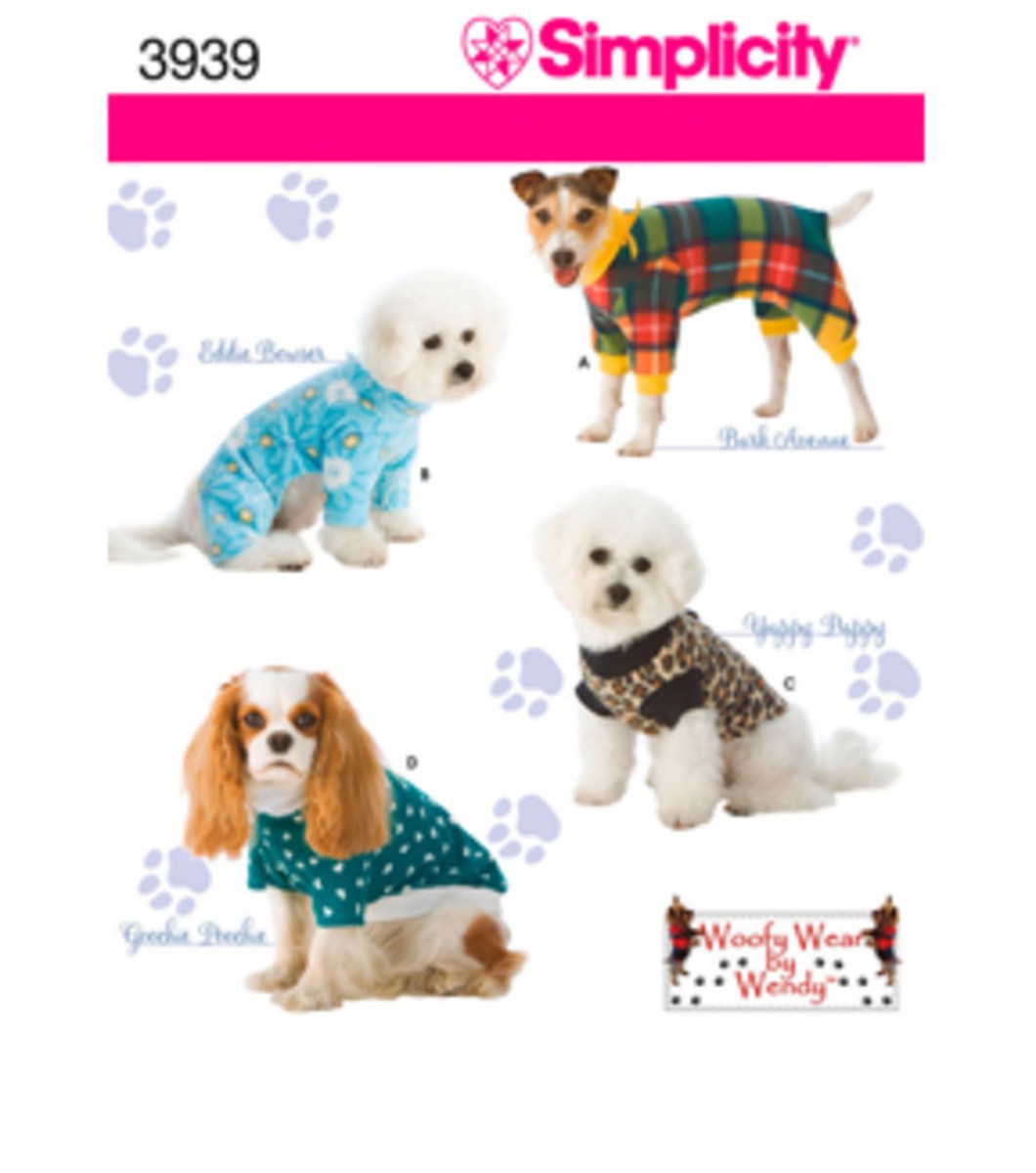 Sewing Patterns For Dogs Simplicity Pattern 3939 Dog Clothesin Three Sz Sml Joann