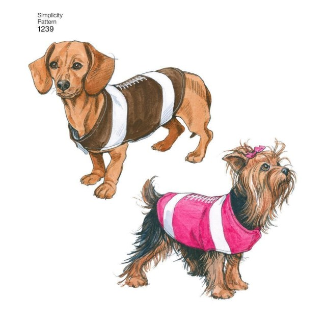 Sewing Patterns For Dogs Simplicity Sewing Pattern Dog Coats In 3 Sizes 1239