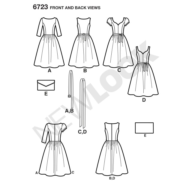 Sewing Patterns For Dresses 6723 New Look