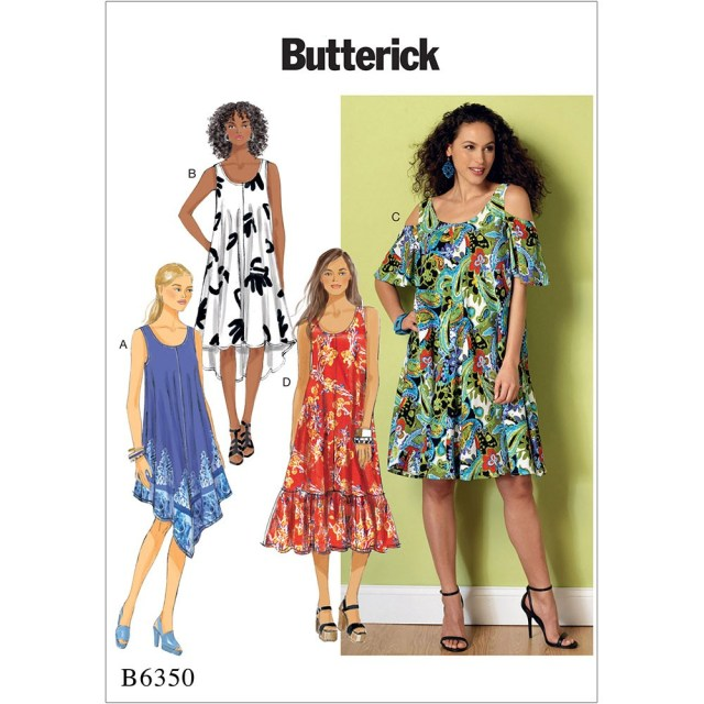 Sewing Patterns For Dresses Misses Sleeveless And Cold Shoulder Dresses Butterick Sewing Pattern