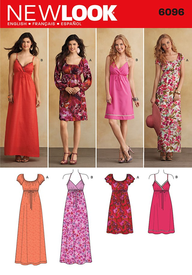 Sewing Patterns For Dresses New Look 6096 Dress
