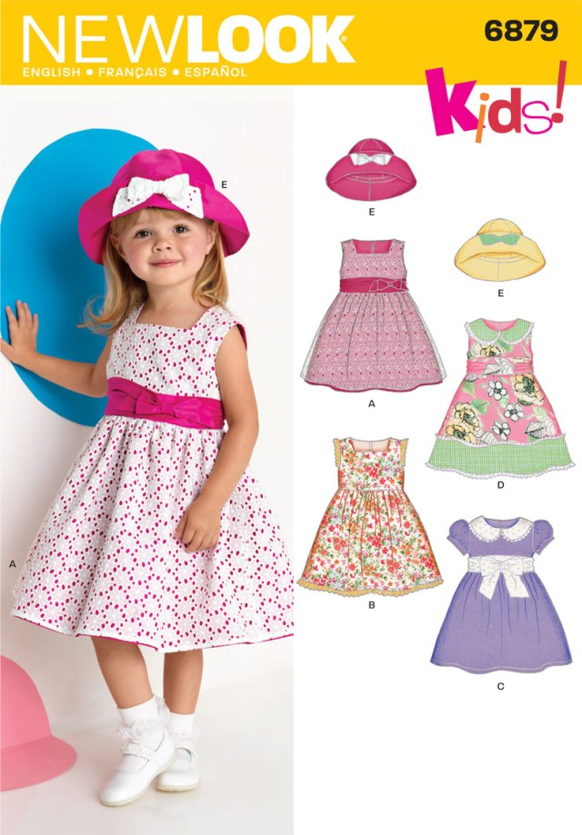Sewing Patterns For Dresses New Look 6879 Toddler Dress Sewing Pattern