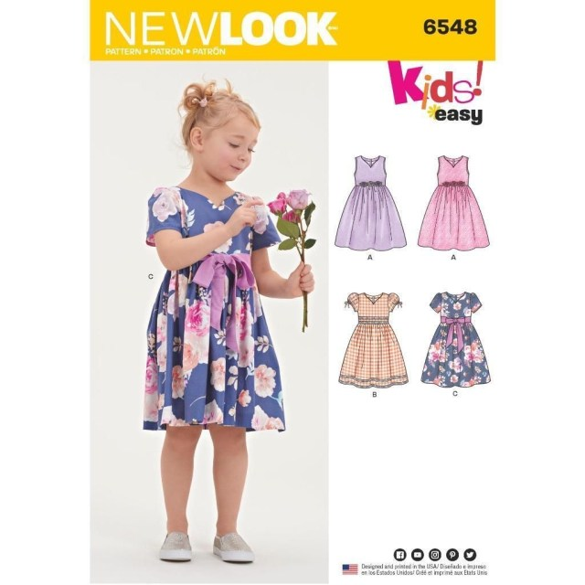 Sewing Patterns For Kids New Look Sewing Pattern Kids Easy Party Special Occasion Dress 3 8