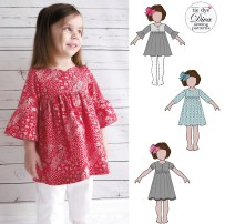 Sewing Patterns Girls Clementine Dress And Top For Girls 12 Months To 910 Years Tie