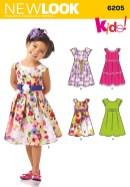Sewing Patterns Girls New Look 6205 Childrens Dress Sewing Girls Dressestops Kids