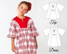 Sewing Patterns Girls Tunic Patterns Girls Dress Patterns Girls Top Patterns Etsy