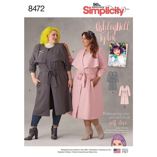 Sewing Patterns Plus Size Asley Nell Tipton Misses Coats Simplicity Sewing Pattern 8472 Sew