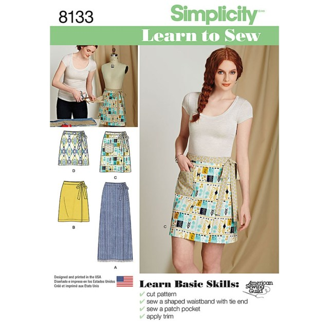 Sewing Patterns Simplicity Misses Learn To Sew Wrap Skirts Simplicity Sewing Pattern 8133 Sew