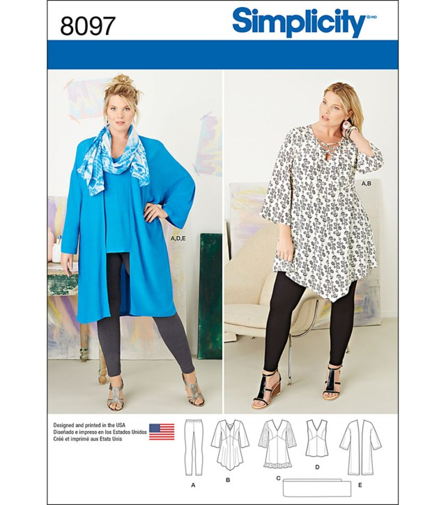 Sewing Patterns Simplicity Simplicity Patterns Us8097gg Plus Sizes 26w 28w 30w 32w Joann