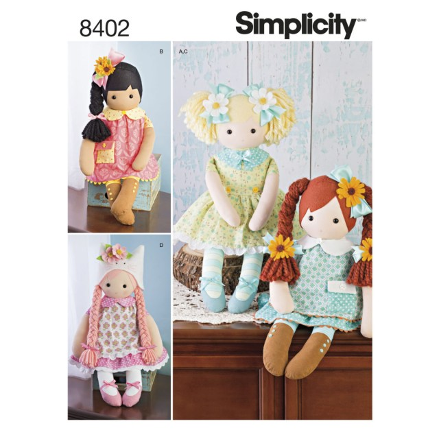 Sewing Patterns Simplicity Simplicity Sewing Pattern 8402 Os Rag Doll 23