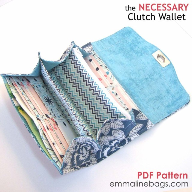 Sewing Wallet Pattern Free Pdf The Necessary Clutch Wallet Home Made Pinterest Sew