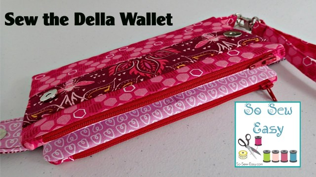 Sewing Wallet Pattern Free Sew The Della Wallet Clutch Bag Youtube