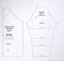 Shirt Sewing Pattern Free Raglan Tee Shirt Sewing Pattern Womens Size Large Its
