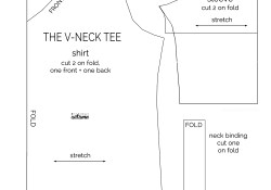 Shirt Sewing Pattern How To Make A V Neck T Shirt Sewing Pattern And Tutorial Its