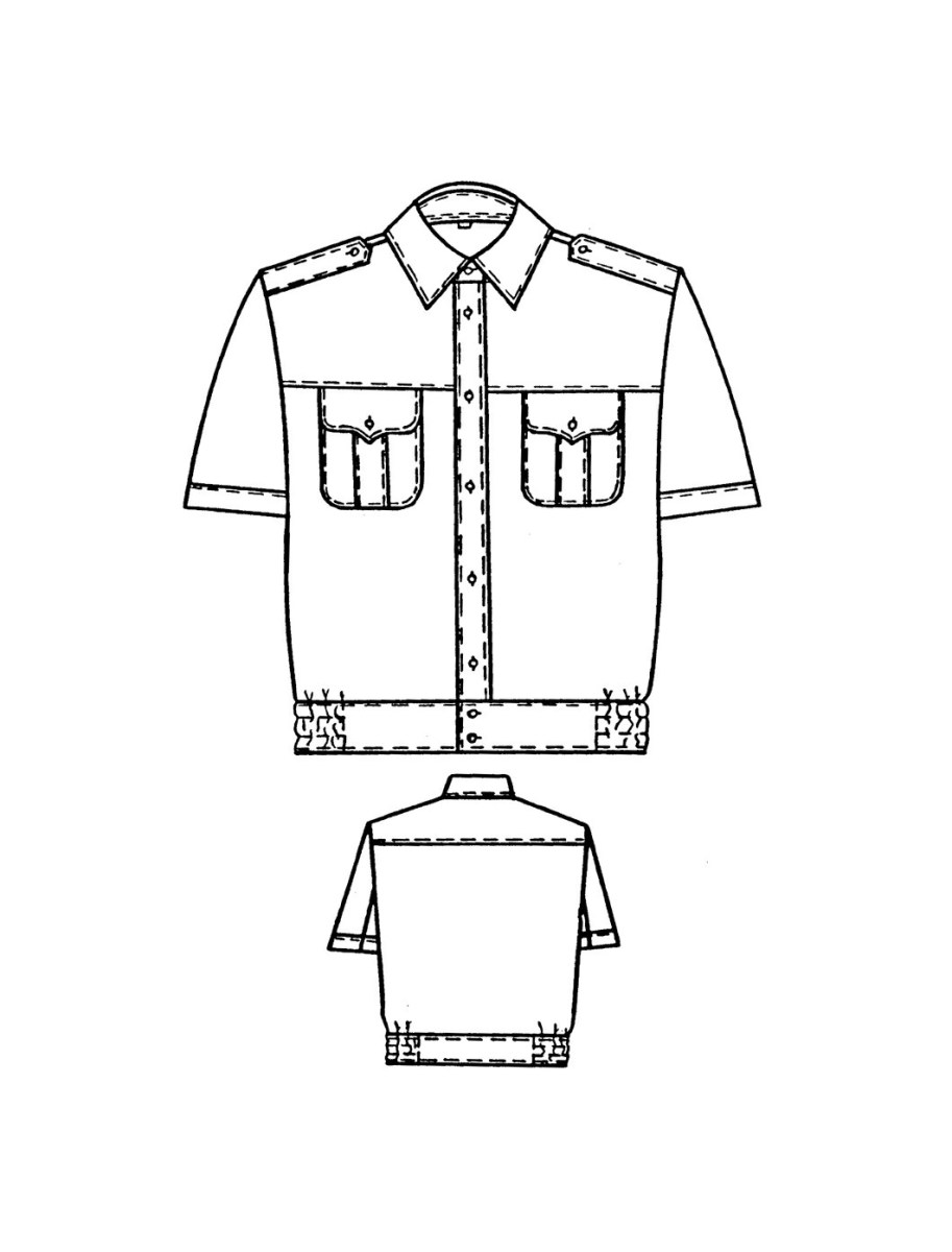 Shirt Sewing Pattern Uniform Shirt Sewing Pattern 6096 Made To Measure Sewing Pattern
