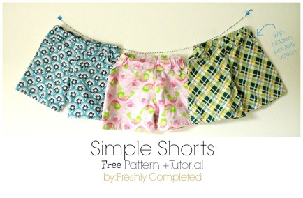 Shorts Sewing Pattern Freshly Completed Simple Shorts Free Pattern Tutorial