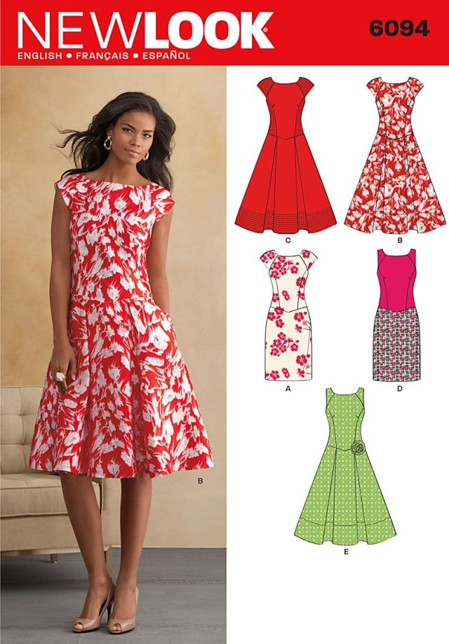 Simple Sewing Patterns Free Beginner Sewing Patterns Patterns New Look Dresses 6094