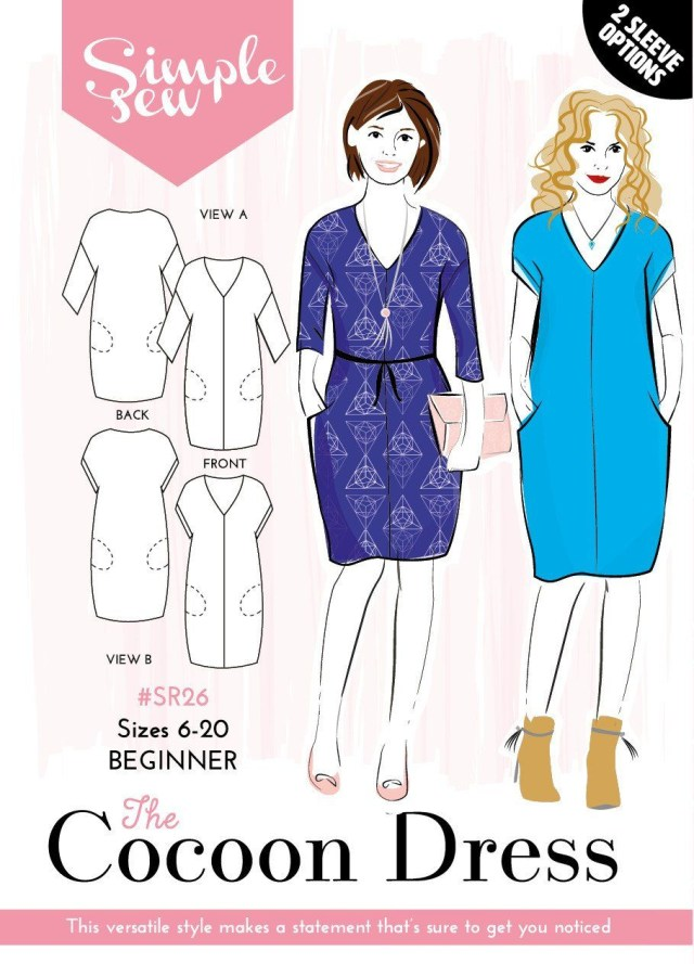 Simple Sewing Patterns Sew Now 8 Magazine With Simple Sew Cocoon Dress Pattern Patterns