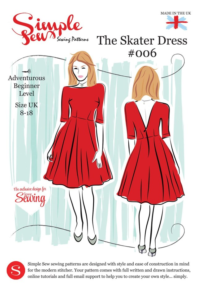 Simple Sewing Patterns Simple Sew Ls08 Skater Pattern Envelope Free With Issue 8 Of Love
