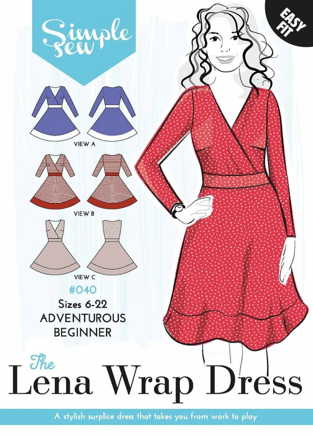 Simple Sewing Patterns The Simple Sew Lena Wrap Dress Patterns Pinterest Sewing