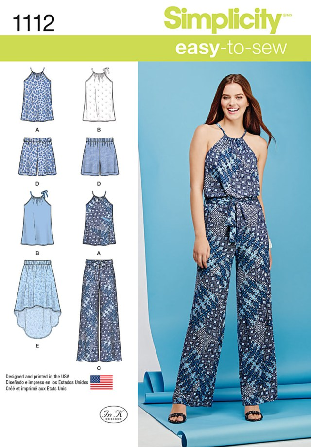 Simplicity Sewing Patterns Simplicity 1112 Misses Top Pants Or Shorts And Skirt