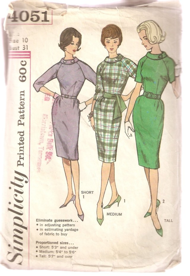 Simplicity Sewing Patterns Vintage Simplicity Sewing Pattern 4051 Womens Clothes Etsy