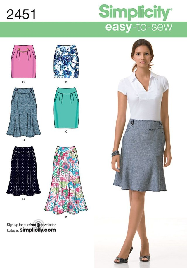 Skirt Sewing Patterns 2451 Misses Skirts Misses Skirt Sewing Patterns Each In Two