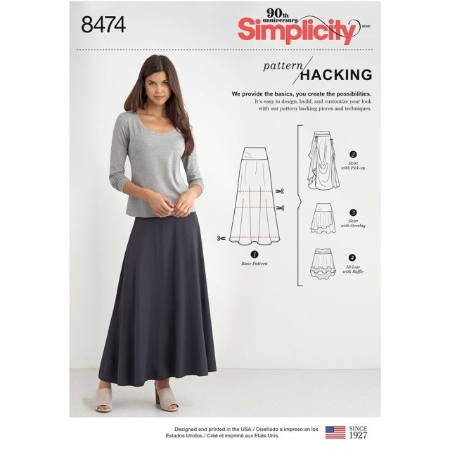 Skirt Sewing Patterns Misses Knit Skirt With Options For Design Hacking Simplicity Sewing