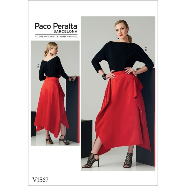 Skirt Sewing Patterns Misses Top And Draped Skirt Vogue Sewing Pattern 1567 Sew Essential
