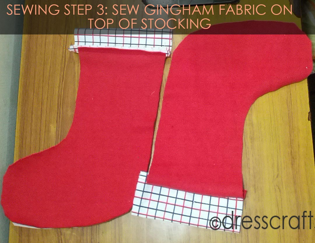 Stocking Sewing Pattern Sewing Christmas Stocking With Free Pattern Dresscrafts