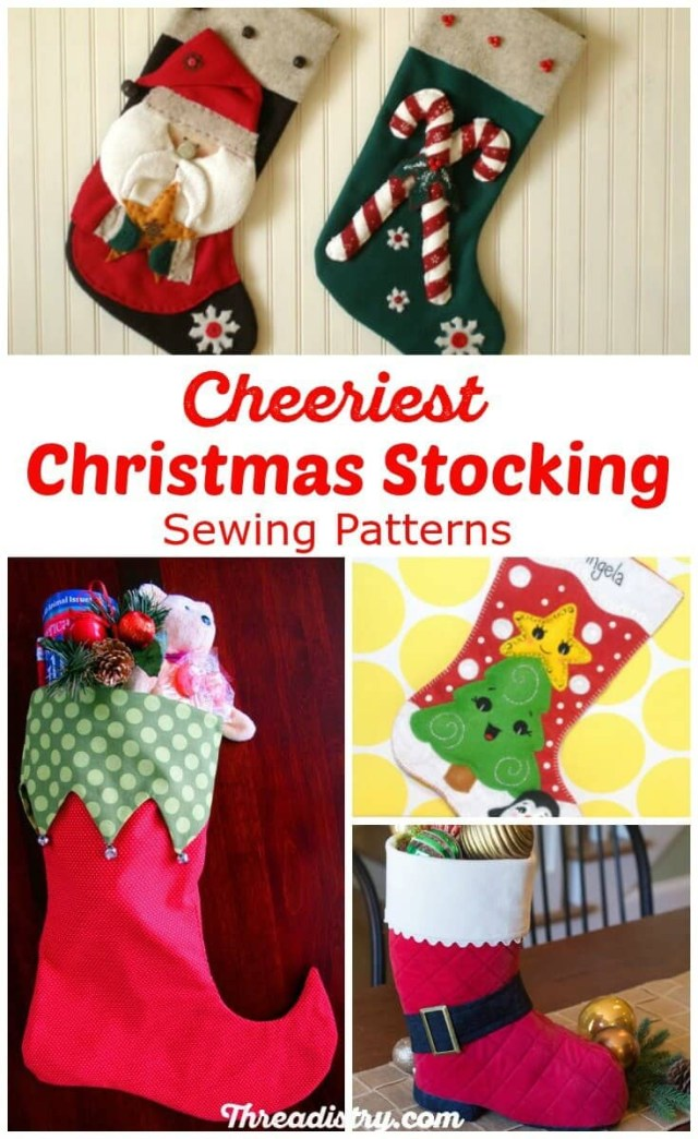 Stocking Sewing Pattern Surprise Santa With The Cutest Christmas Stocking Sewing Patterns