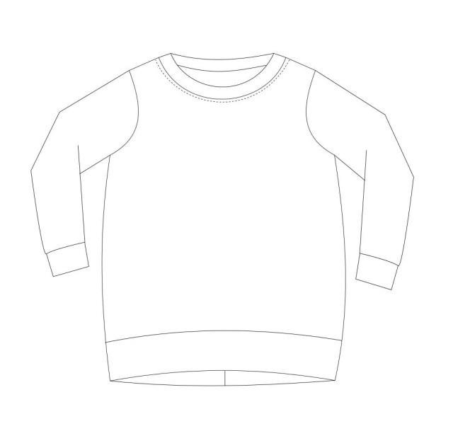 Sweatshirt Sewing Pattern Tunic Sweatshirt Sewing Pattern Pdf Sweatshirt Sewing Pattern Pdf