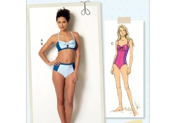 Swimsuit Sewing Patterns Misses Tie Detail Bikini And One Piece Swimsuit Butterick Sewing