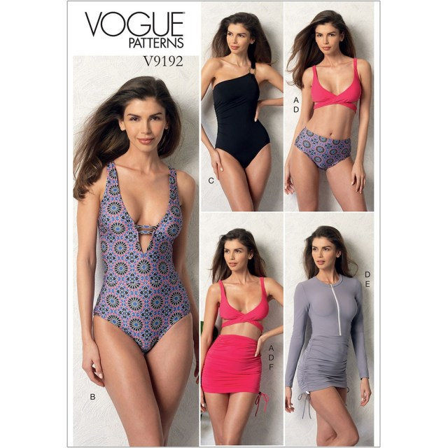 Swimsuit Sewing Patterns Misses Wrap Top Bikini One Piece Swimsuits And Cover Ups Vogue
