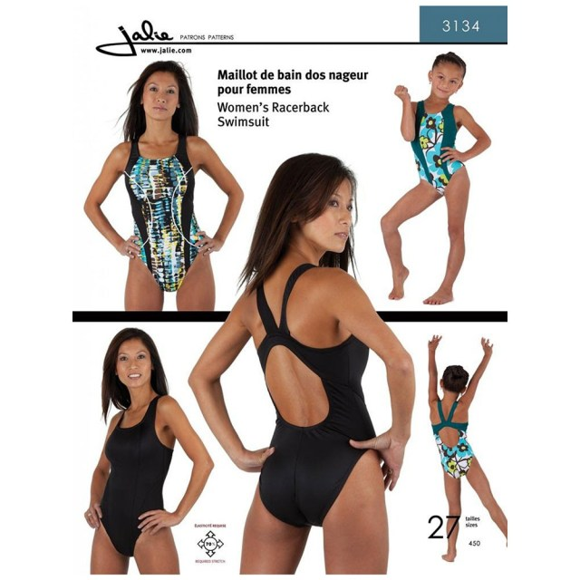 Swimsuit Sewing Patterns Racerback Swimsuit Jalie Sewing Pattern 3134 Sew Essential