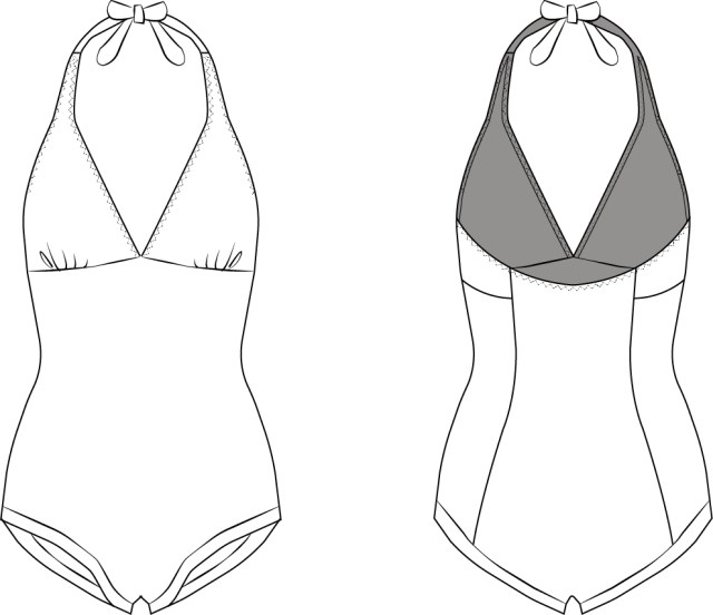 Swimsuit Sewing Patterns Swimsuit Sewing Pattern Sewing Knits Pinterest Sewing Patterns